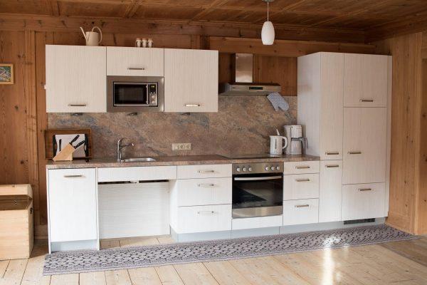 Küche der Ferienwohnung Spitzenstein